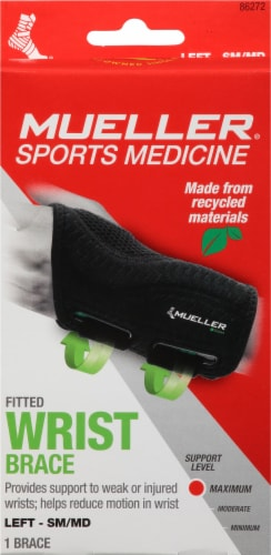 Mueller Fitted Left Hand Wrist Brace Perspective: front