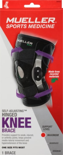 Mueller One Size Fits Most Adjustable Hinged Knee Support Perspective: front