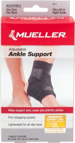 Mueller One Size Fits Most Adjustable Ankle Support Perspective: front