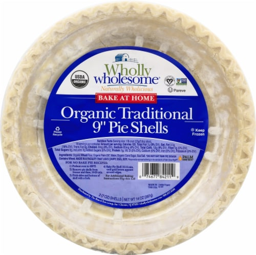 Wholly Wholesome Organic Traditional Pie Shells Perspective: front