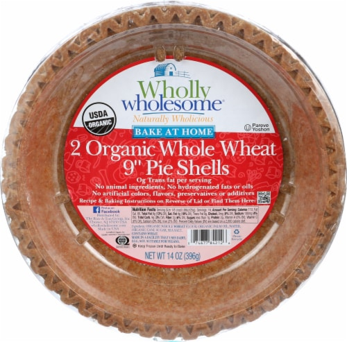 Wholly Wholesome Organic Whole Wheat Pie Shells Perspective: front