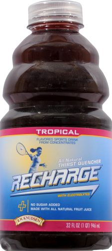 R.W. Knudsen Recharge Tropical Sports Drink Perspective: front