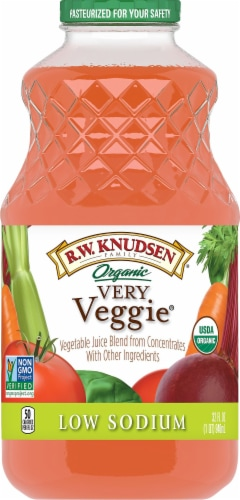 R.W. Knudsen Organic Very Veggie Low Sodium Juice Perspective: front