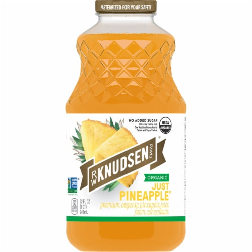 R.W. Knudsen Organic Just Pineapple Juice Perspective: front
