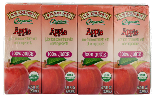 R.W. Knudsen Organic Apple Juice Boxes Perspective: front