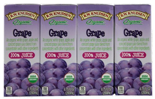 R.W. Knudsen Organic Grape Juice Boxes Perspective: front