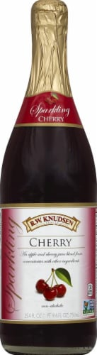 R.W. Knudsen Sparkling Cherry Juice Perspective: front