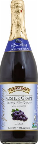 R.W. Knudsen Sparkling Kosher Grape Juice Perspective: front