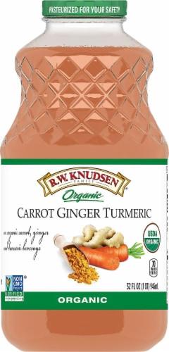 R.W. Knudsen Organic Carrot Ginger Turmeric Juice Perspective: front