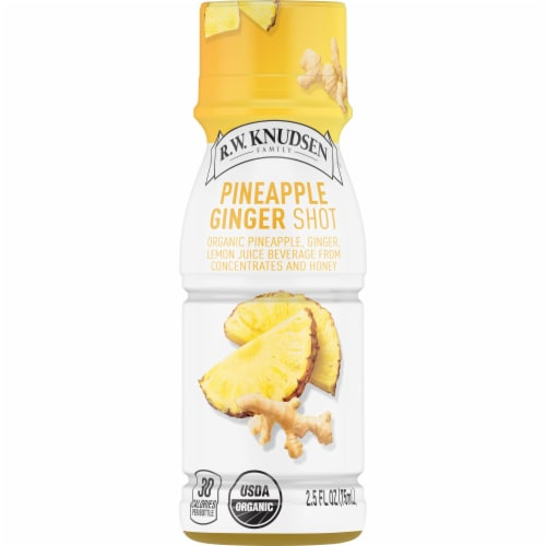 R.W. Knudsen Organic Pineapple Ginger Shot Perspective: front