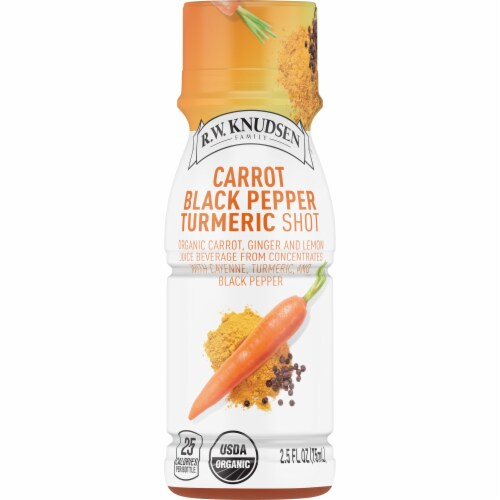 R.W. Knudsen Organic Carrot Black Pepper Turmeric Shot Perspective: front