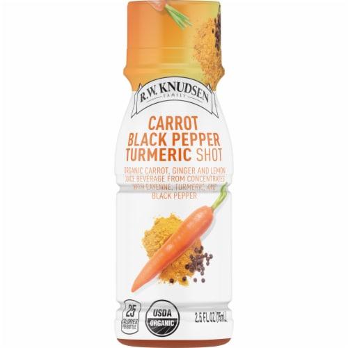 R.W. Knudsen Organic Carrot Black Pepper Turmeric Shot Perspective: front