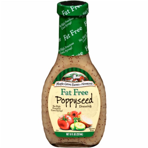 Maple Grove Farms Fat Free Poppyseed Dressing Perspective: front