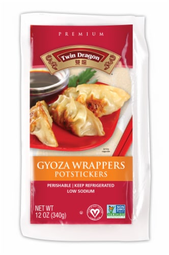 Twin Dragon All Natural Gyoza Wrappers Perspective: front