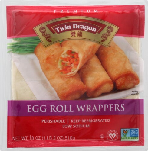 Twin Dragon Egg Roll Wrappers Perspective: front