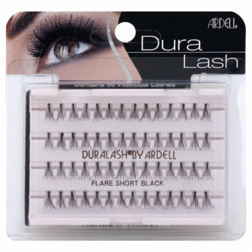 Ardell Duralash Flare Short Black Lashes Perspective: front