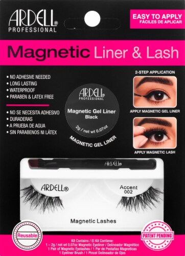 Ardell Magnetic Liner & Lash Accent 002 Magnetic Lashes Perspective: front