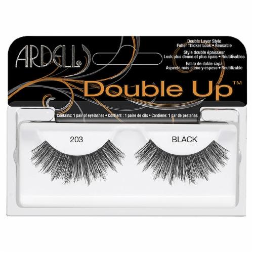 Ardell Double Up 203 Black False Eyelashes Perspective: front