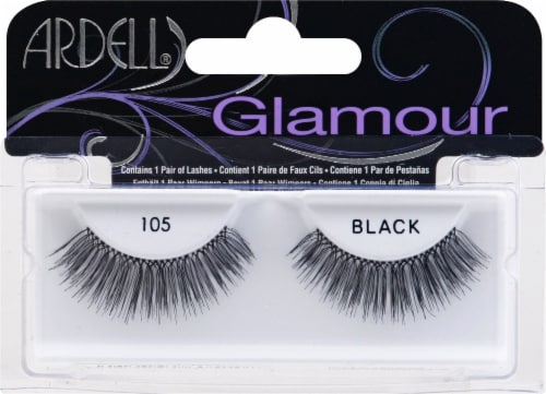 Ardell 105 Black Fashion Lashes Perspective: front