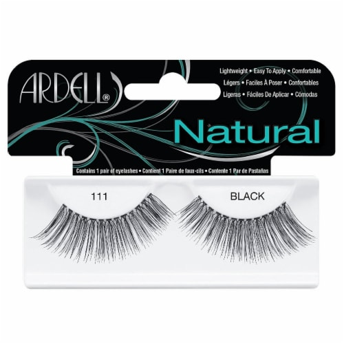 Ardell Fashion Lashes 111 Black False Lashes Perspective: front