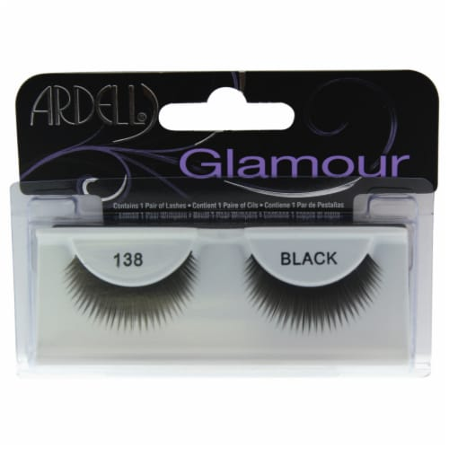 Ardell Glamour Lashes  # 138 Black Eyelashes 1 Pair Perspective: front