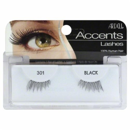 Ardell Accents 301 Black Lashes Perspective: front
