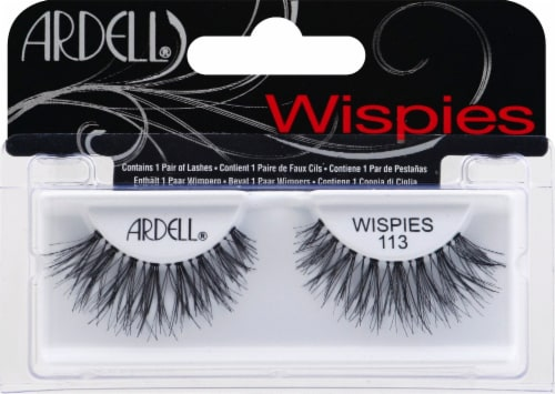 Ardell Wispies 113 Black Lashes Perspective: front
