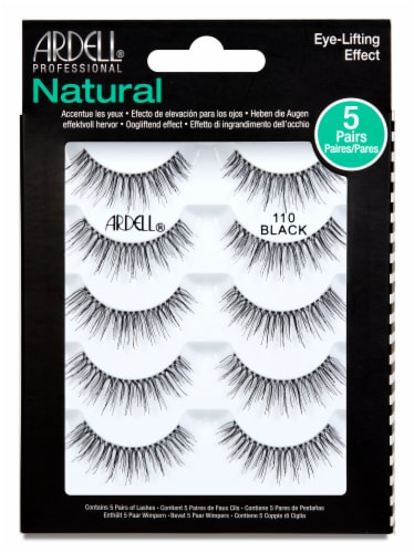 Ardell Natural 110 Black Lashes Perspective: front