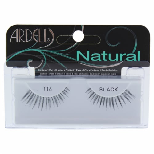 Ardell Natural 116 Black Fashion Lashes Perspective: front