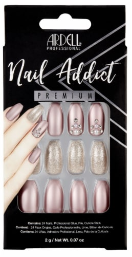 Ardell Nail Addict Premium Metallic Lilac False Nail Kit Perspective: front