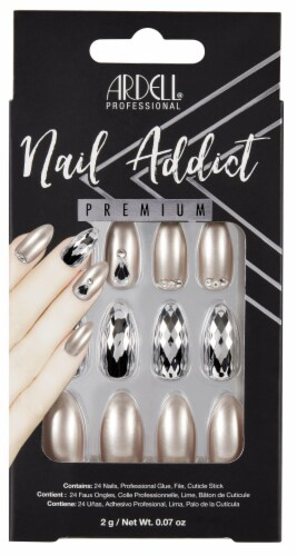 Ardell Nail Addict Premium Champagne Ice False Nail Kit Perspective: front