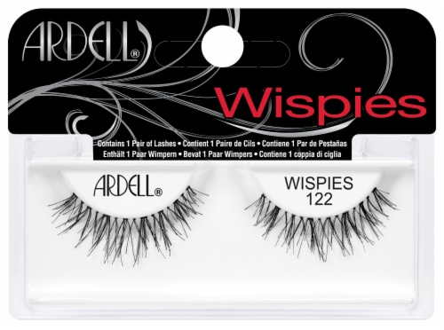 Ardell Wispies Black 122 False Lashes Perspective: front
