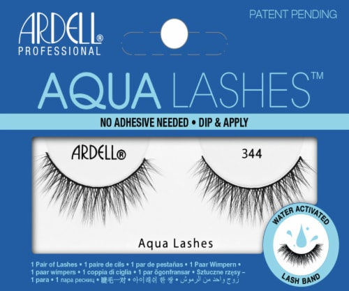 Ardell 344 Aqua False Eyelashes Perspective: front