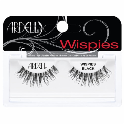 Ardell Fashion Lashes Black Wispies False Lashes Perspective: front