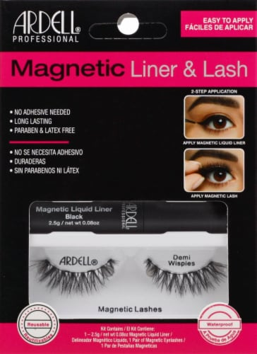 Ardell Demi Wispies Magnetic Liner & False Lashes Kit Perspective: front