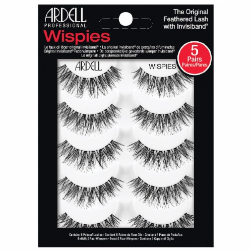 Ardell Wispies Original Feathered Lash with Invisiband Multipack False Lashes Perspective: front