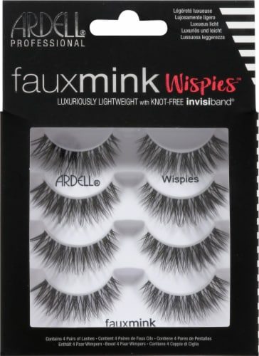 Ardell Faux Mink Wispies Eyelashes Perspective: front