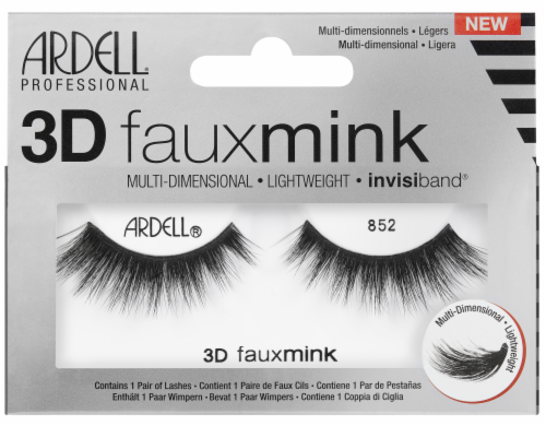 Ardell 3D Faux Mink 852 Eyelashes Perspective: front