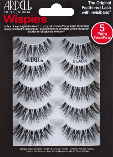 Ardell Wispies 113 Black Eyelashes Perspective: front