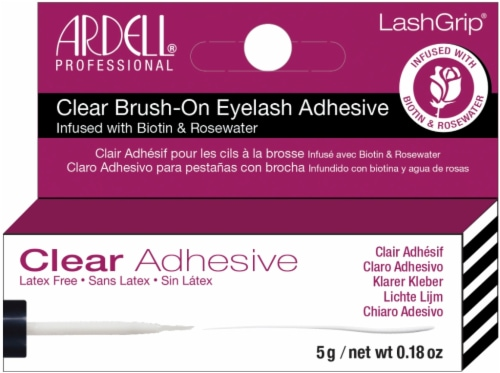 Ardell LashGrip Clear Brush-On Eyelash Adhesive with Biotin Perspective: front