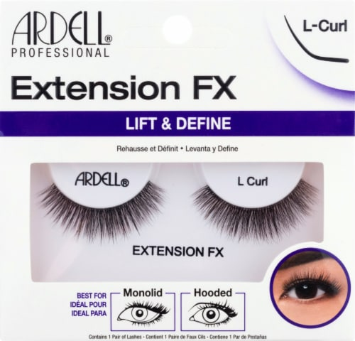 Ardell Extension FX Lift & Define L-Curl Lashes Perspective: front