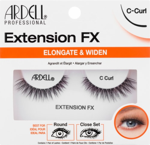 Ardell Extension FX Elongate & Widen C-Curl Lashes Perspective: front