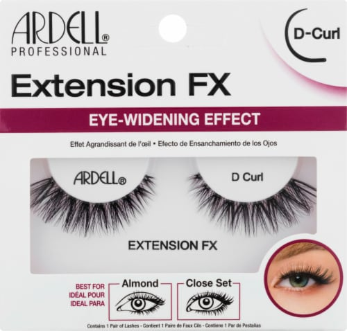 Ardell Extension FX Eye-Widening Effect D-Curl Lashes Perspective: front