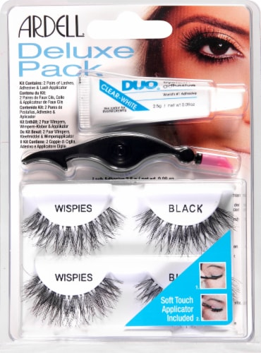 Ardell Wispies Black False Lashes Kit Perspective: front