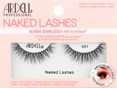 Ardell 421 Black Naked Lashes Perspective: front