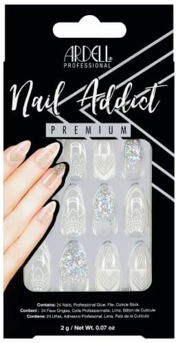 Ardell Nail Addict Premium Glass Decorative False Nail Kit Perspective: front