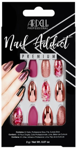 Ardell Nail Addict Pink Chrome Foil Nails Perspective: front