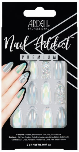 Ardell Nail Addict Holographic Glitter Nails Perspective: front