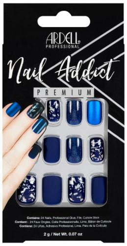 Ardell Nail Addict Premium Matte Blue False Nail Kit Perspective: front