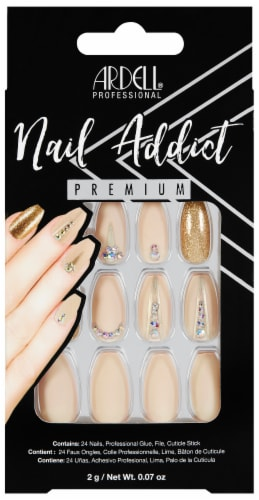 Ardell Nail Addict Nude Jeweled Nail Kit Perspective: front